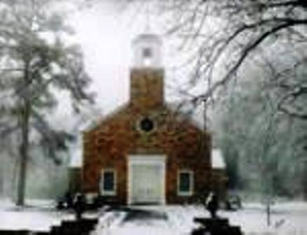 Chapel In Color (with snow)