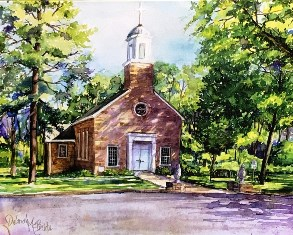 Chapel Watercolor<br> (NOTECARD 6-PACK)