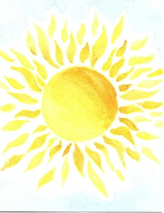 Yellow Sun (NOTECARD 6-PACK)